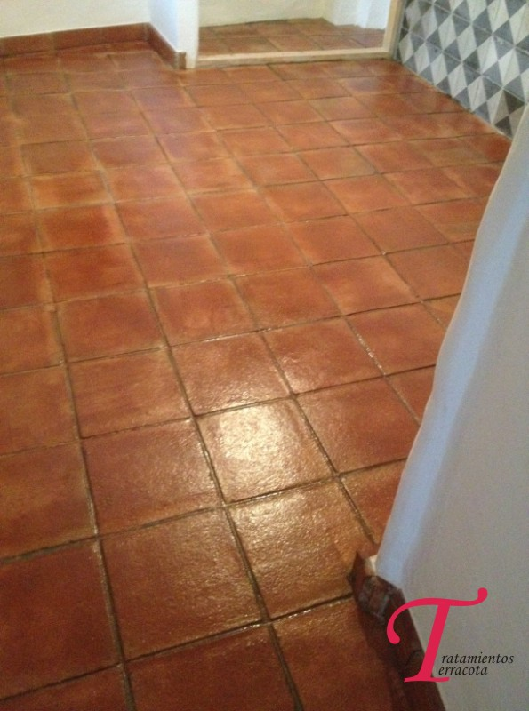 tratamiento suelo barro interior acabado brillo 05