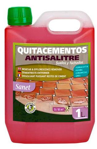 producto limpiador anti salitre. quita cementos, limpiar juntas baldosas