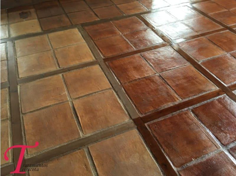 tratamiento suelo barro interior acabado efecto cuero 03