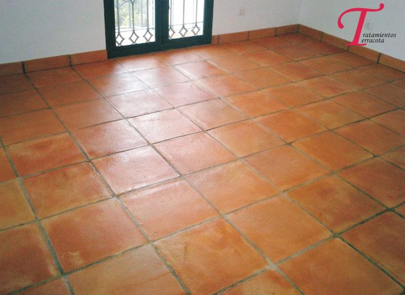 tratamiento suelo barro interior acabado brillo 06